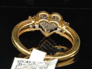 YELLOW GOLD PRINCESS CUT HEART SHAPE DIAMOND ENGAGEMENT RING