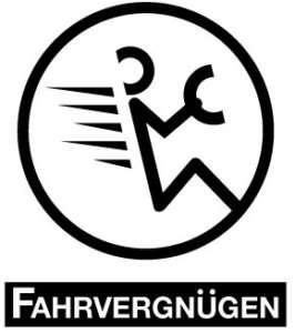 Volkswagen FAHRVERGNUGEN VW Logo white vinyl decal