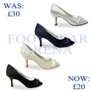 Ladies Wedding Evening Party Bridal Prom Peep Toe Sandals Sizes UK 3 4
