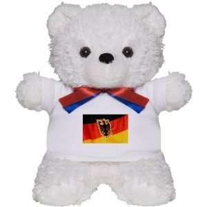Teddy Bear White German Flag Waving