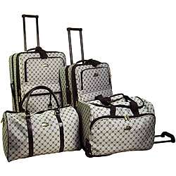 American Flyer Signature 4 piece Luggage Set