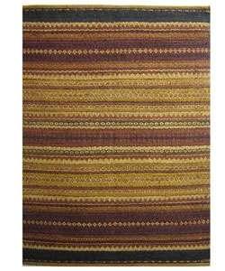 Hand woven Mohawk Rust Jute Rug (4 x 6)