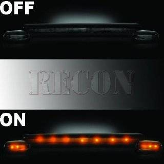Recon 264155BK Smoked Cab Roof Lights 2002 2007 Chevy & GMC CK Series