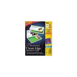 Avery 8820   Clean Edge Inkjet Business Cards, White, 2 3