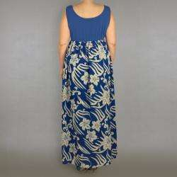 INES Collection Womens Plus Size Sleeveless Scoop Neck Maxi Dress