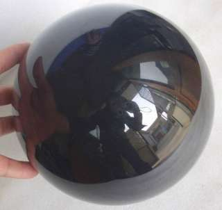 is large natural Obsidian crystal Cat Eye sphere polished healing