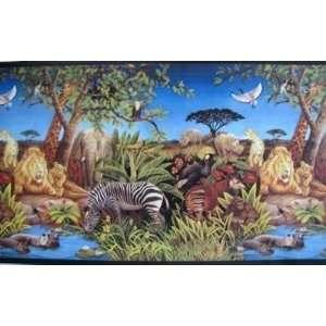 Pin animal wallpaper borders fever on pinterest for Home wallpaper jungle
