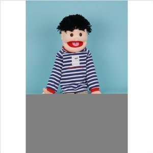Black hair Boy   Good for Life Full Body Puppet Toys