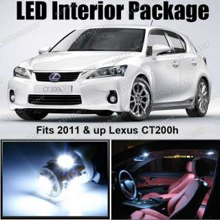 White LED Lights Interior Package 2011 Lexus CT200h