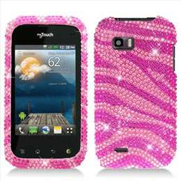 Pink Leopard Bling Hard Case Cover for T Mobile LG myTouch Q C800