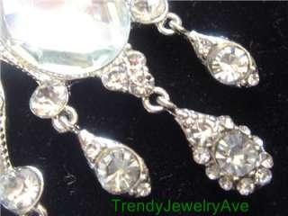 Clear austrian Crystal teardrop chandelier bridal pageant