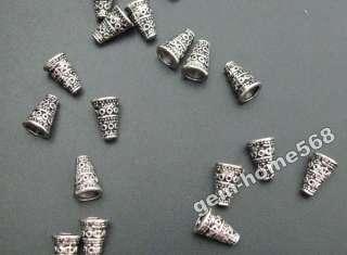 90 Tibetan Silver Bali Style Bead End Caps Cones B889