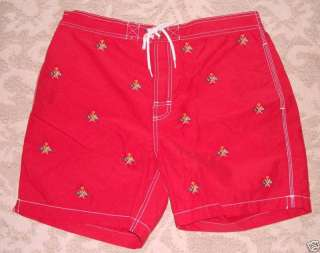 Polo Ralph Lauren Red Flag Swim Trunks Board Shorts