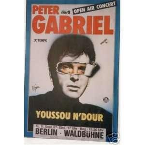 Peter Gabriel Berlin Original Concert Poster 1987