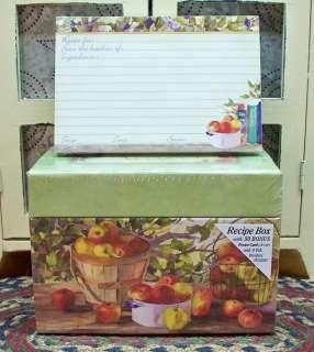 PRIMITIVE RECIPE BOX & 50 RECIPE CARDS, ASSORTED STYLES