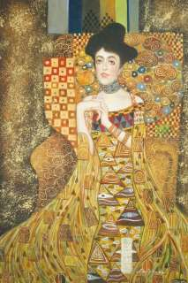Gustav Klimt Reproduction Art Portrait Adele Bloch Bauer 24X36 HQ Oil