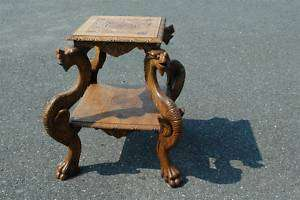 French Dragon Table GREAT Carved Detail
