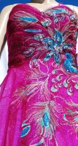 Blush Prom Fuchsia Peacock Sequin Ball Gown or Formal Dress 10US BNWT