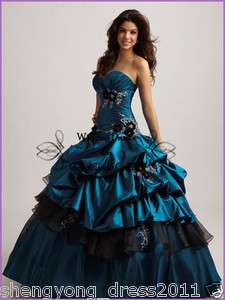New 2012 Quinceanera Wedding dress Bridal Bridesmaid Gown/Prom Evening