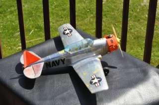 Vintage COX Thimbledrome Control Line Navy Airplane Model