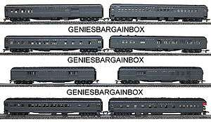 HO Scale ROCK ISLAND Heavyweight 8 Car Passenger Set New in Box IHC