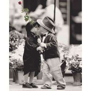 First Kiss Kim Anderson Cute Romantic Photography Poster