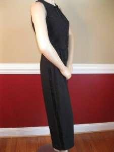 Ladies Tuxedo Ann Taylor Black Formal Jumpsuit 4 P Suit
