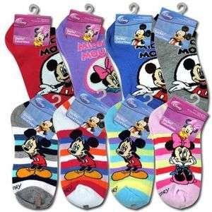 Mickey Mouse & Minnie Boys Girls Kids Socks SIZE 6 8 ASSORTED NWT