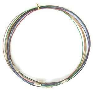 Steel Wire Bracelet Cord, with Alloy Clasp  1mm   DIY Jewelry Making