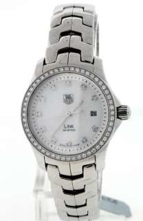 Tag Heuer Link, Mother of Pearl Diamond Ladies Watch.