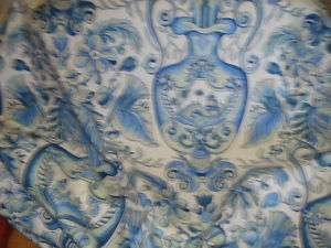 POLISHED COTTON BLUE FLORAL VASES PRINT FABRIC