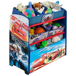 Disney   Cars Multi Bin Toy Organizer Kids & Teen Rooms