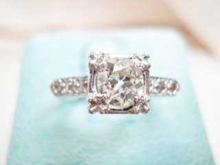 WHITE GOLD OLD EUROPEAN CUT DIAMOND SOLITAIRE ENGAGEMENT RING