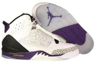 New Mens Nike Air Jordan Son of Mars Shoes Retro White/Club Purple