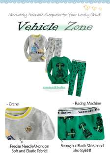 Baby & Toddler Boy Girl Sleepwear Pajama Set  Vehicle Zone