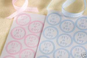 50 Its A Girl Envelope Seals invitations shower favors
