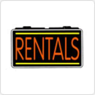 LED Neon Sign Car Rental Rentals 13 x 24 Simulated Neon Sign at