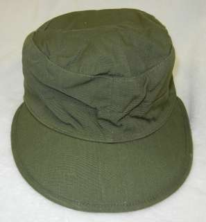 ORIGINAL WW2 VINTAGE U.S. ARMY ISSUE O.D. COTTON FIELD CAP WITH VISOR