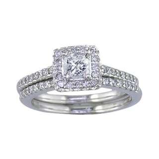 CT Diamond Wedding Set in 14K White Gold