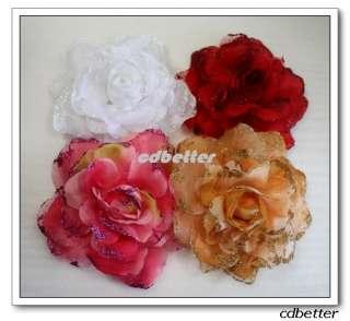 Bling Bridal Party Chic Flower Brooch Pin Hair Scrunchy