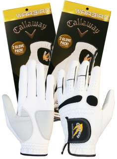 Callaway Warbird Mens Golf Gloves (4 pack)   Left and Right Hand