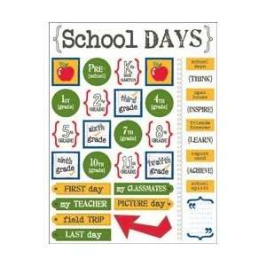 Stickers Live Life School Days; 6 Items/Order Arts, Crafts & Sewing