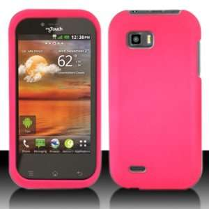 LG Maxx Q myTouch Q Rubber Hot Pink Case Cover Protector