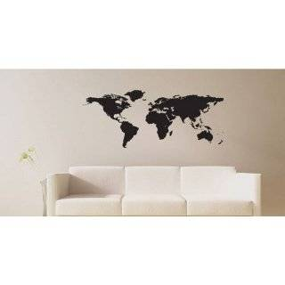 Vinyl Wall Art Decal Sticker World Map Globe Earth Country