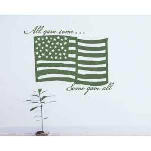 Patriotic Vinyl Wall Decal Sticker Mural Quotes Words Pa012allgavep
