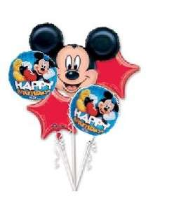 MICKEY MOUSE disney happy birthday party balloon 5 set