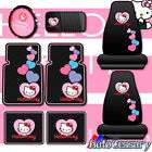 NEW 8pc Hello Kitty Car Mats Seat Covers Accessories