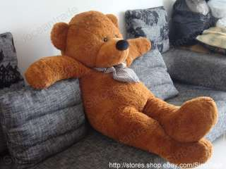 25 FEET TEDDY BEAR DARK BROWN STUFFED PLUSH GIANT 63