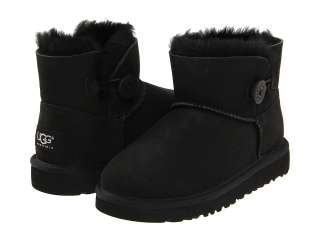 Classic Mini Bailey Button Black 1000788 Kids Girls Sheepskin Boot
