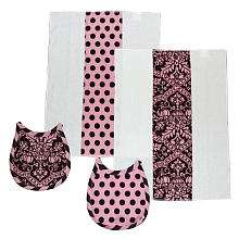 Damask Layette Set Pink/Brown   Tadpoles   Babies R Us